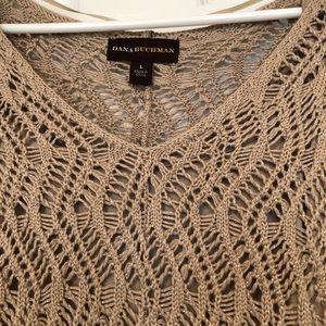 Dana Buchman Tops - Open Weave Sweater With Camisole